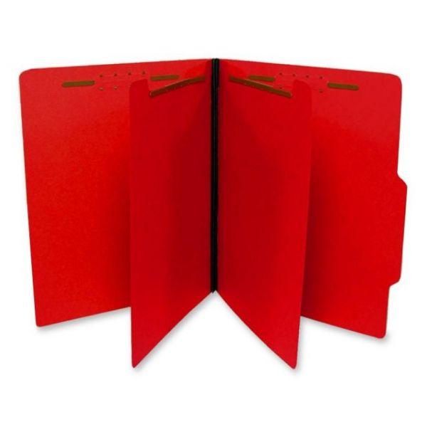 SJ Paper Top Tab Red Classification Folders