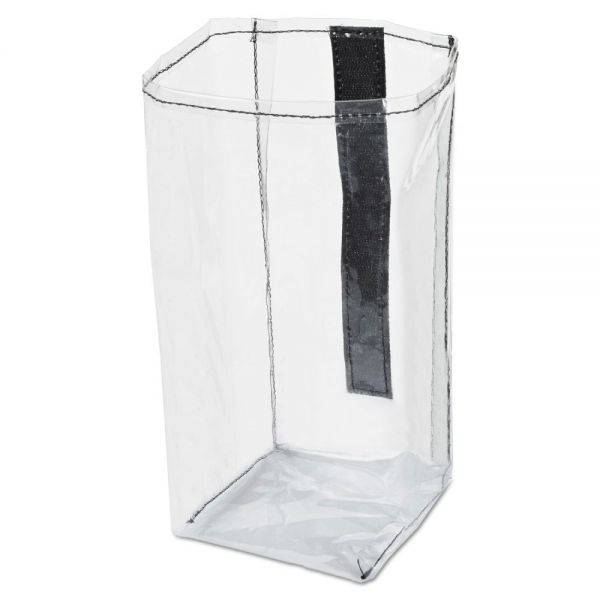 Rubbermaid Commercial Executive Quick Cart Plastic Pocket Liner, Small, 4 x 3 4/5 x 8 1/2, Clear