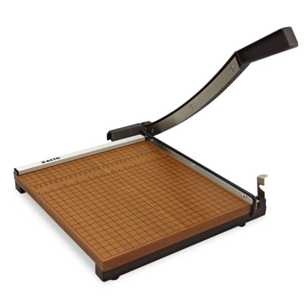 "X-ACTO Wood Base Guillotine 12"" Paper Cutter"