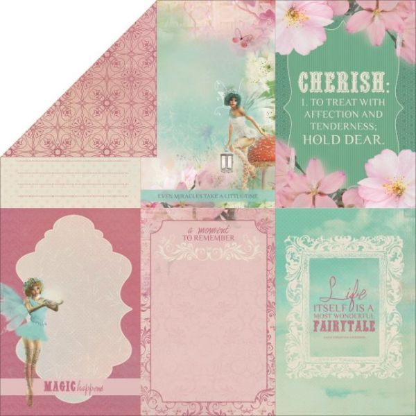"Enchanted Garden Double-Sided Cardstock 12""X12"""