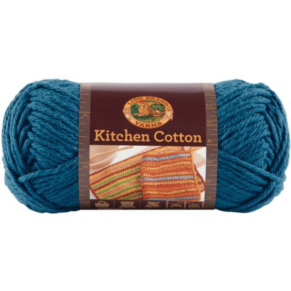 Lion Brand Kitchen Cotton Yarn - Blueberry