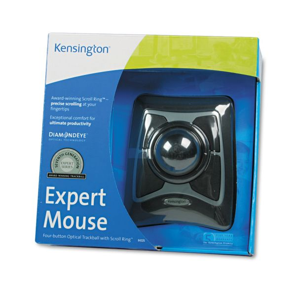 Kensington Expert Mouse Trackball - USB w/PS2 Adapter