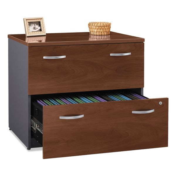Bush Series C Collection 2 Drawer 36W Lateral File (Assembled), Hansen Cherry