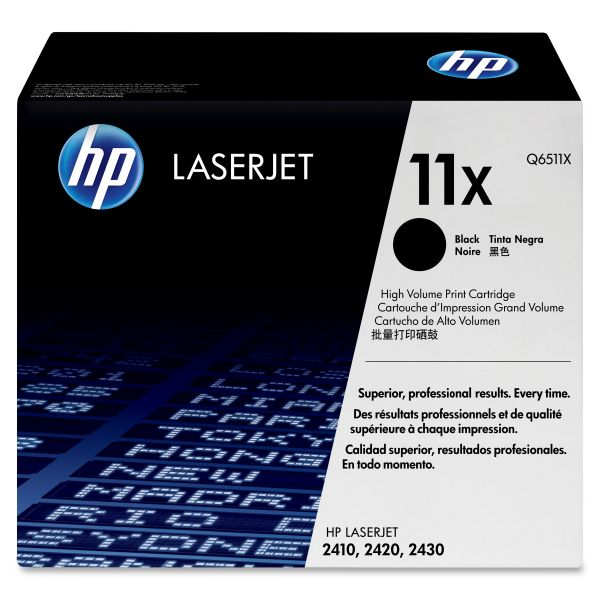 HP 11X Black High Yield Toner Cartridge (Q6511X)