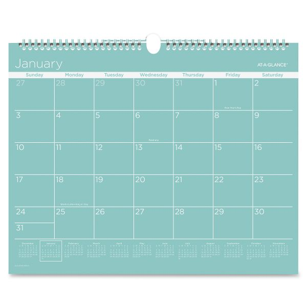 At-A-Glance Color Play Monthly Wall Calendar