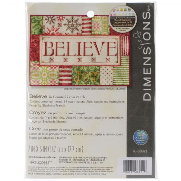 Dimensions Believe Mini Counted Cross Stitch Kit
