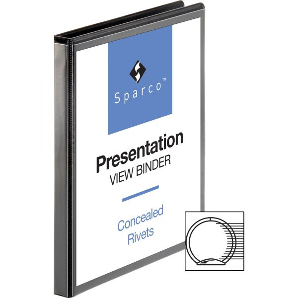 "Sparco Standard 1/2"" 3-Ring View Binder"