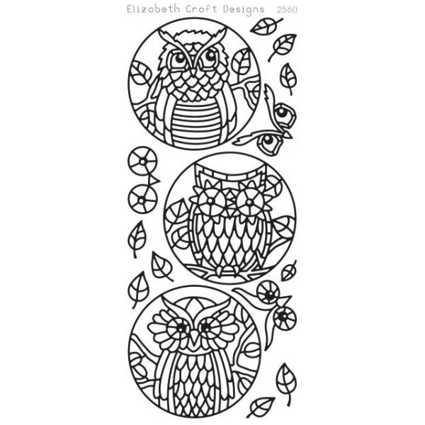 Owl Circles Peel-Off Stickers