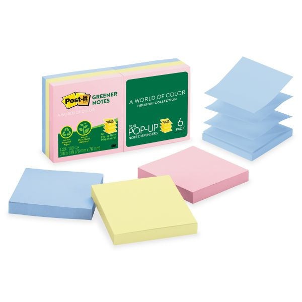 "Post-it 3"" x 3"" Pop-Up Greener Notes"