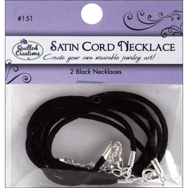 "Necklace Cording 16"" W/2"" Extenders 2/Pkg"