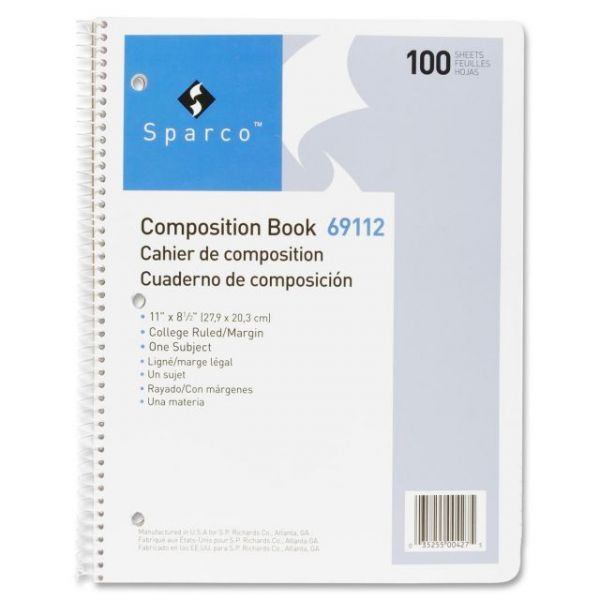 Sparco Punched Spiral Composition Books