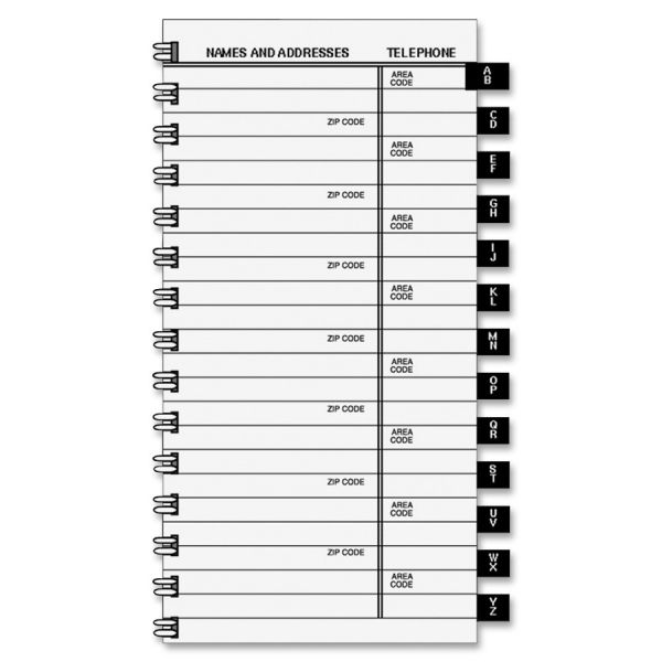 At-A-Glance Tabbed Telephone and Address Refill