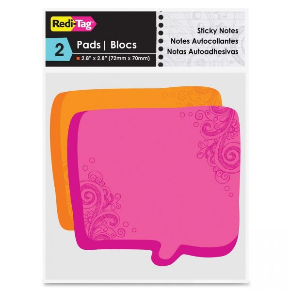 Redi-Tag Thought Bubble Adhesive Note Pads