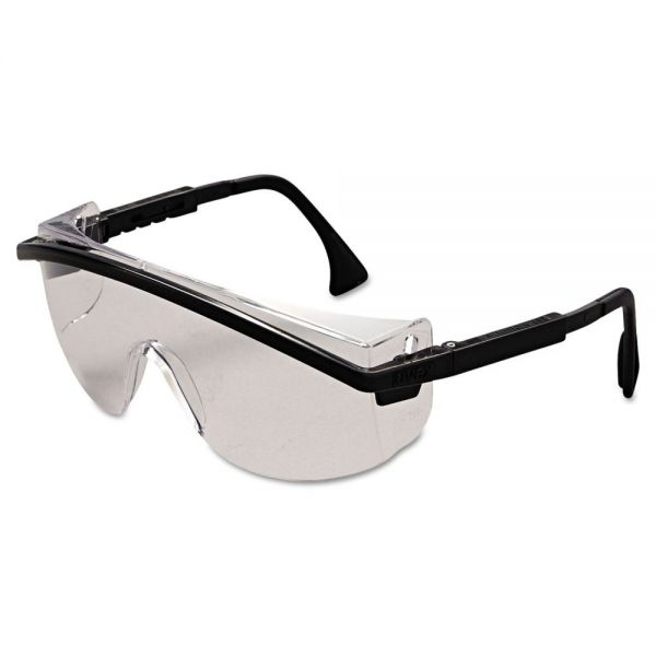 Uvex by Honeywell Astrospec 3000 Safety Spectacles, Black Frame