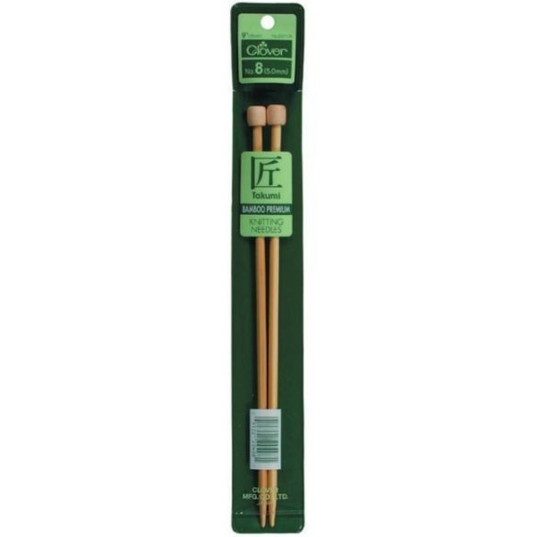 Takumi Bamboo Single Point Knitting Needles 9""