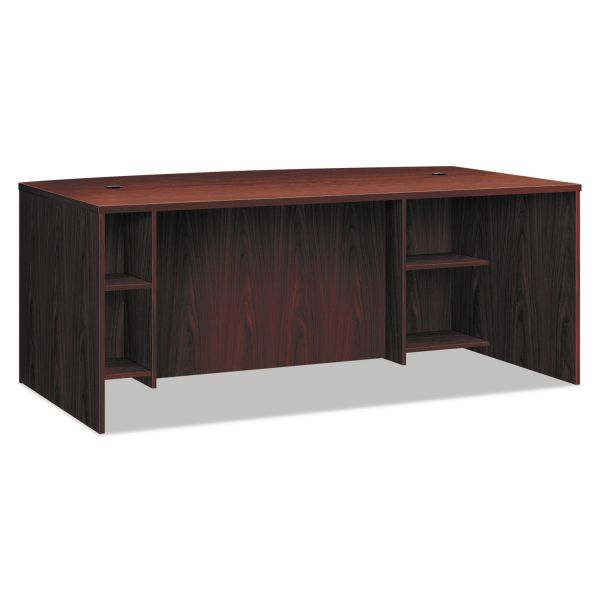"HON 72""W x 42""D x 29""H Breakfront Desk Shell w/ Bow Front Top"