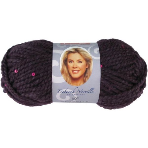 Deborah Norville Collection Serenity Chunky Sequin Yarn - Purple Rain
