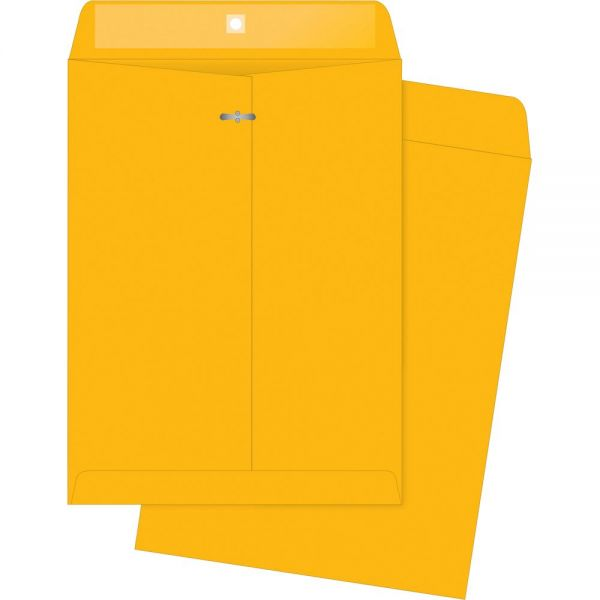 "Business Source Rugged Gummed 10"" x 15"" Clasp Envelopes"