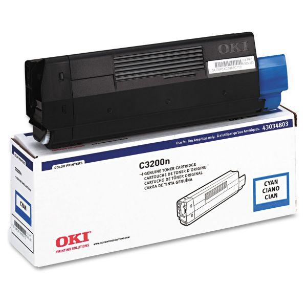 Oki 43034803 Toner (Type C6), 1500 Page-Yield, Cyan