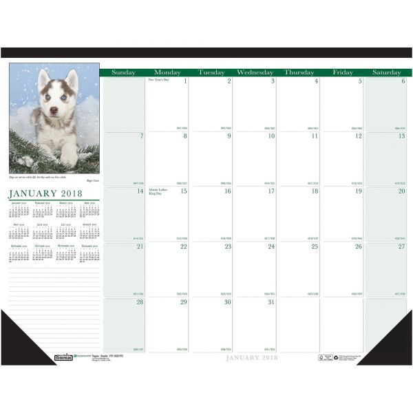 House of Doolittle Earthscapes Puppies Monthly Desk Pad Calendar