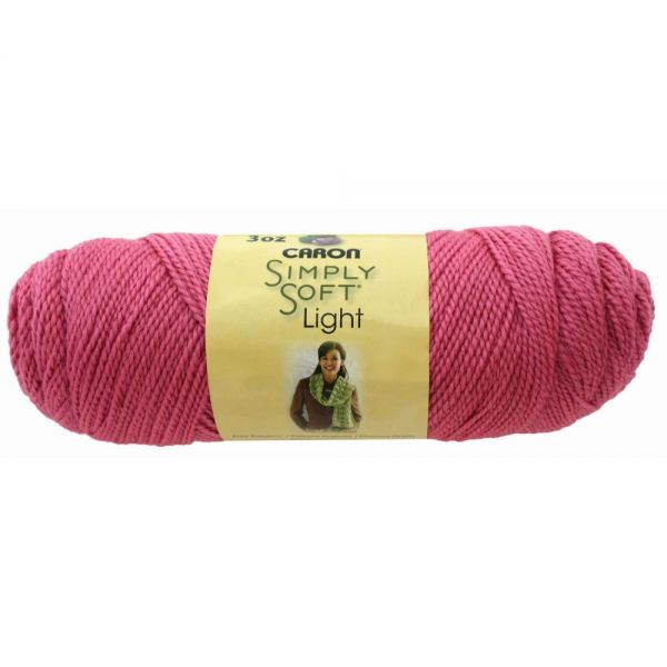 Caron Simply Soft Light Yarn - Bubble Gum