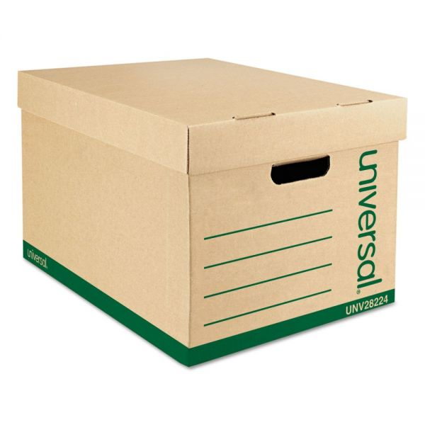 Universal 100% Recycled Heavy-Duty Storage Boxes With Lift-Off Lids
