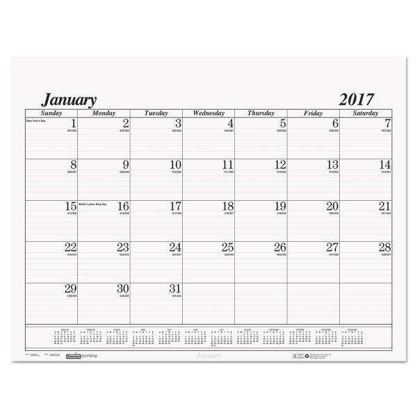House of Doolittle Economy Desk Pad Monthly Calendar Refill