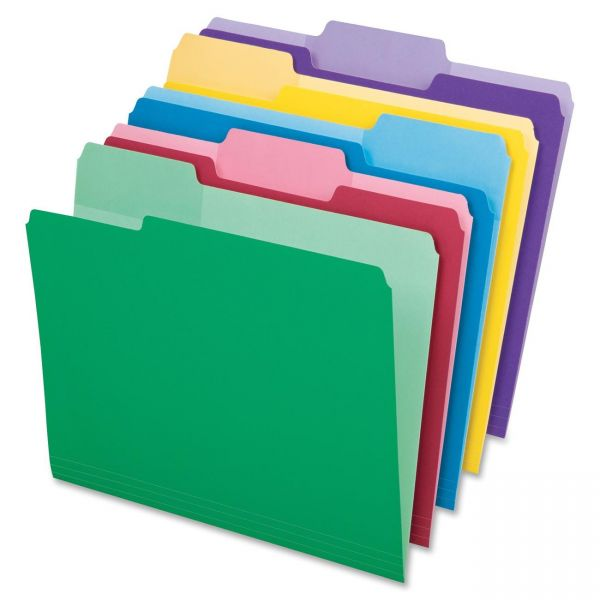 Pendaflex Colored File Folders With Erasable Tabs