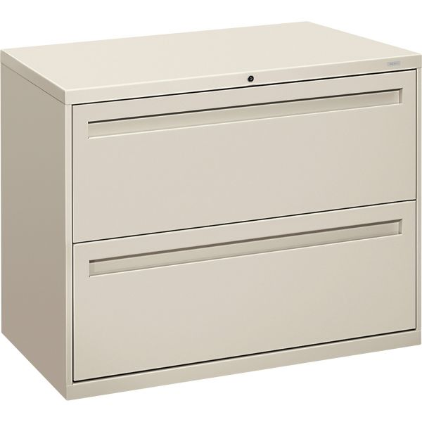 HON 700 Series Two-Drawer Lateral File, 36w x 19-1/4d, Light Gray