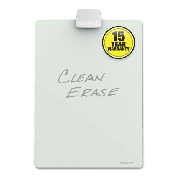 Quartet Glass Dry Erase Desktop Easel, 11 x 9, White