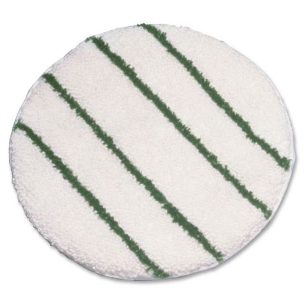 "Rubbermaid Commercial Green Strips 21"" Carpet Bonnet"
