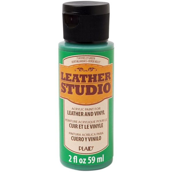 FolkArt Leather Studio Kelly Green Acrylic Paint