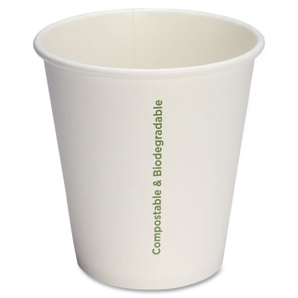 Genuine Joe Compostable 10 oz Paper Coffee Cups
