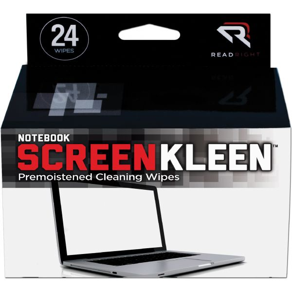 Read Right Notebook ScreenKleen Pads, Cloth, 7 x 5, White, 24/Box