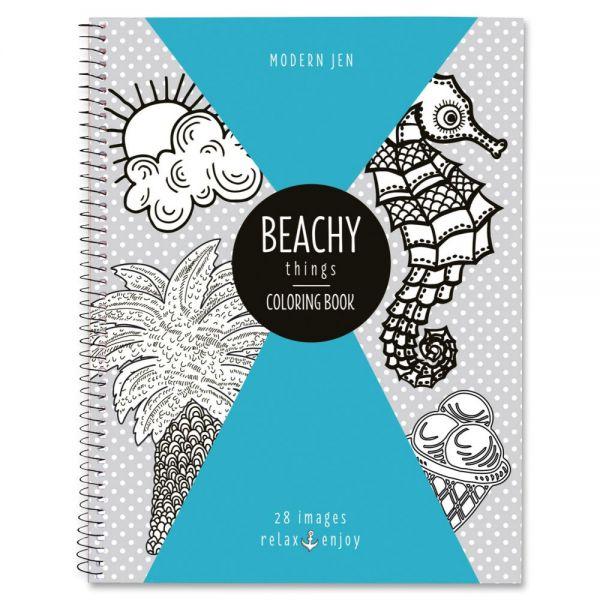Roaring Spring Modern Jen Beachy Theme Coloring Bk Coloring Printed Book
