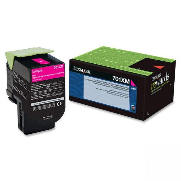 Lexmark 701XM Magenta Extra High Yield Return Program Toner Cartridge (70C1XM0)