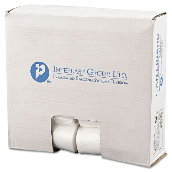 Inteplast Group Low-Density Can Liner, 24 x 33, 16gal, .35mil, Clear, 50/Roll, 20 Rolls/Carton
