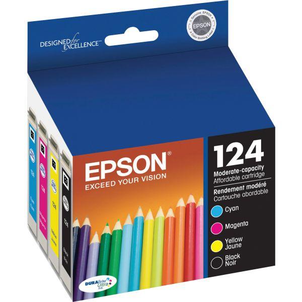 Epson 124 Black/Color Combo Pack Ink Cartridges (T124120-BCS)