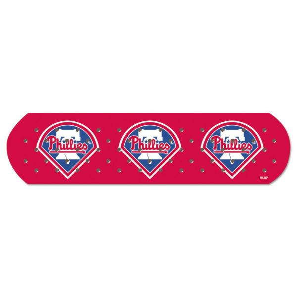"CureIt MLB Adhesive Bandages, Philadelphia Phillies, 1"" x 3"", 50/Box"