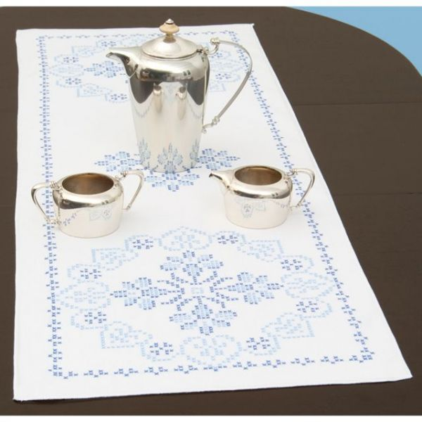 "Stamped Table Runner/Scarf 15""X42"""