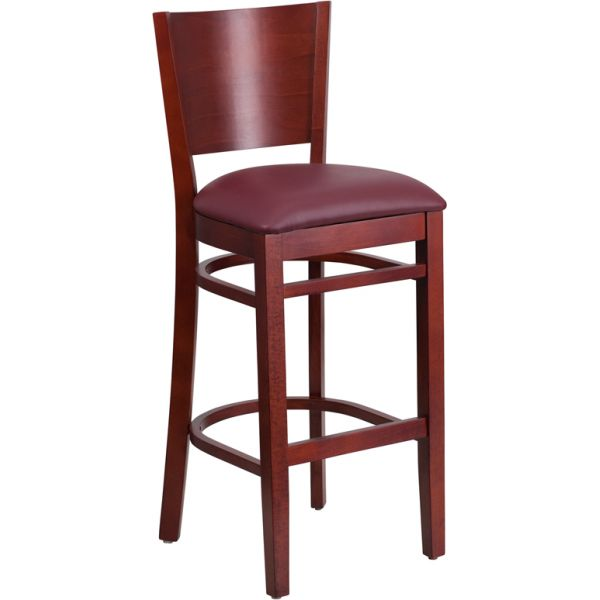 Flash Furniture Lacey Series Solid Back Barstool