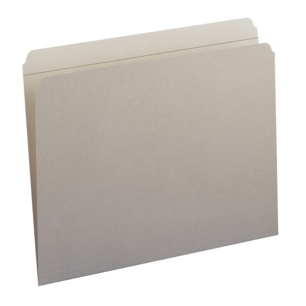 Smead 12310 Gray Colored File Folders with Reinforced Tab