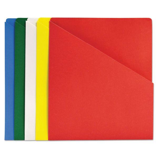 Quality Park Slash-View Pocket Organizers, Letter, Assorted Colors, 25/Pack