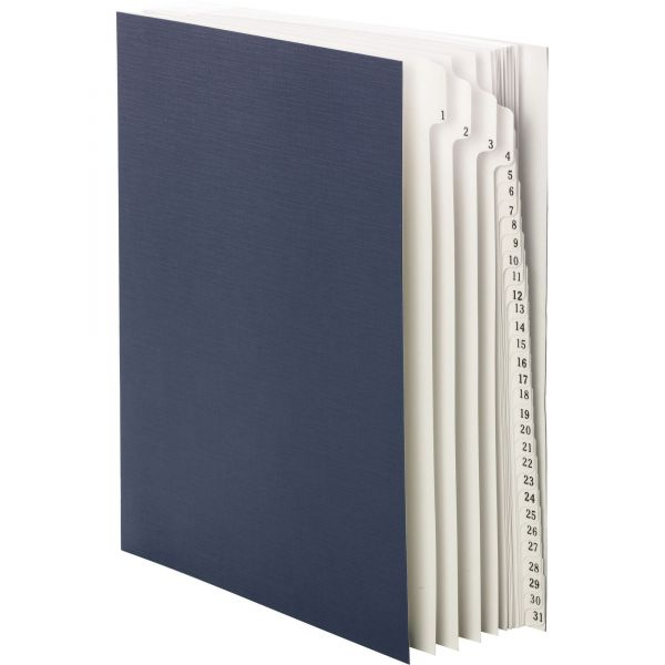 Smead Expandable Indexed Sorter, Top Tab, Letter Size, Index 1-31, Navy Blue