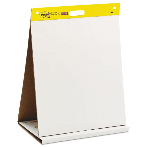 Post-it Post-it Self-Stick Tabletop Easel Pads, 20 in x 23 in, White