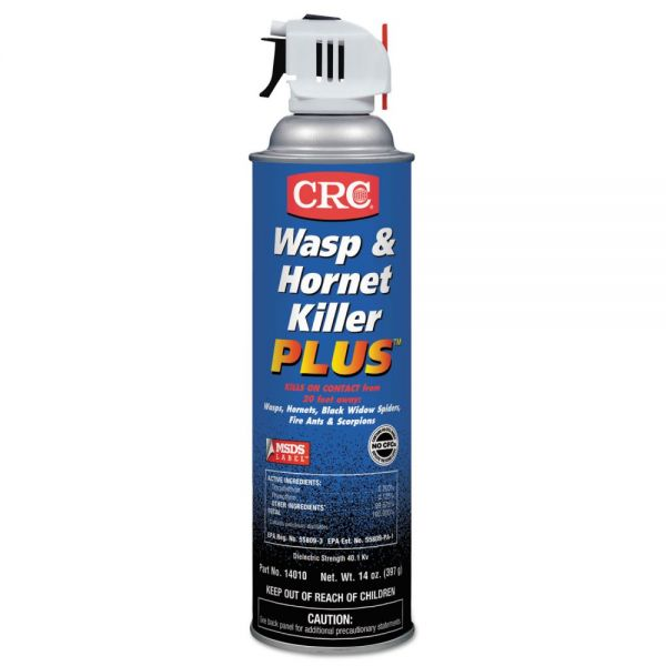 CRC Wasp & Hornet Killer Plus Insecticide, 20 oz Aerosol Can, 12/Carton