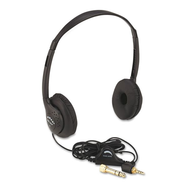 AmpliVox SL1006 Personal Multimedia Stereo Headphones with Volume Control, Black
