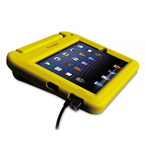 Kensington SafeGrip Security Case, With ClickSafe Lock, for iPad, Yellow