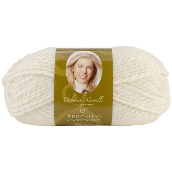 Deborah Norville Collection Serenity Chunky Yarn - Pristine