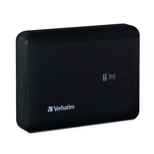 Verbatim Dual USB Power Pack, 10400mAh - Blackk